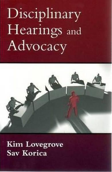 Disciplinary Hearings and Advocacy