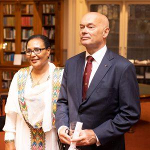 Ethiopian Ambassador Tirfu Kidanemariam Gebrehiwet and Kim Lovegrove RML